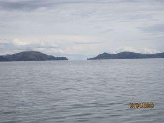 Détroit de Tiquana qui sépare le lac majeur du lac mineur