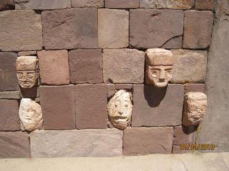 Mur du temple souterrain