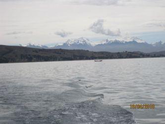 Neiges alimentant le lac Titicaca