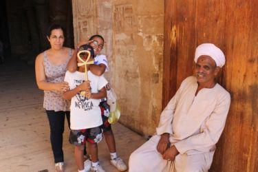 Abou Simbel, la porte d'entrée du temple
