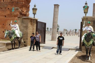 Rabat, entrée du mausolée royal