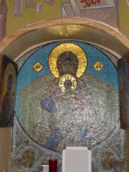 Mosaïque de la Vierge et l'Enfant (ND de Sadnaya)