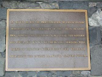 Abolition de l'esclavage aux ïles Vierges en 1834
