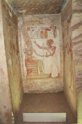 Abydos, Isis reçoit une offrande de Sethi I