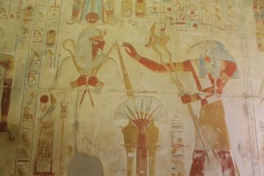 Abydos, Thot purifie Ramsès II