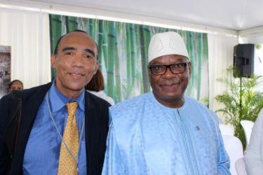 Avec IbrahimBoubacar Traoré, Président du Mali