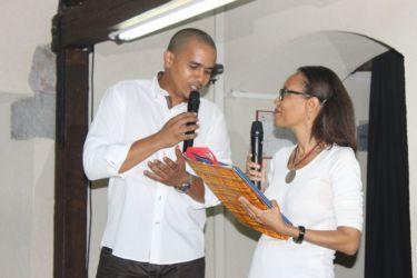 Avec Jimmy Louis, de la Médiathèque Caraïbes