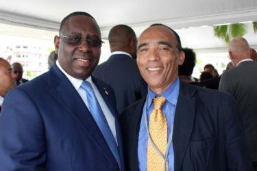 Avec MackySALL, Président du Sénégal