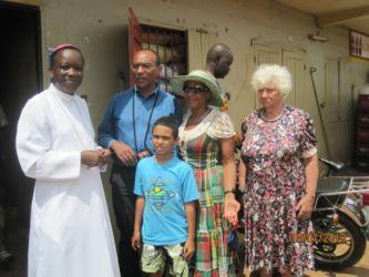 Avec Mgr Alohonou, évêque de Kpalimé