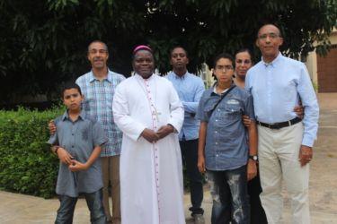 Avec Mgr Amuzu, archevêque de Lomé