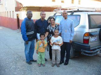 Avec Mgr Paulo, évêque de Port-de-Paix