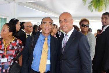 Avec Michel MARTELLI, Président d'Haïti