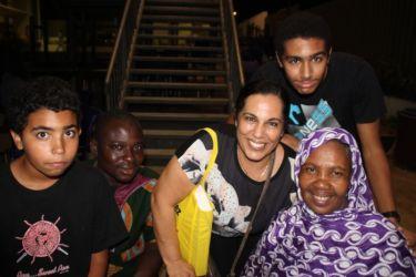 Avec Nina Abdoulaye, choriste de Imidiwen