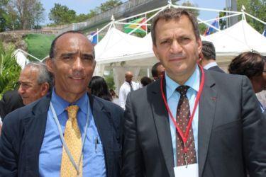 Avec Patrick Karam, président du Conseil représentatif des Français d'Outre-mer