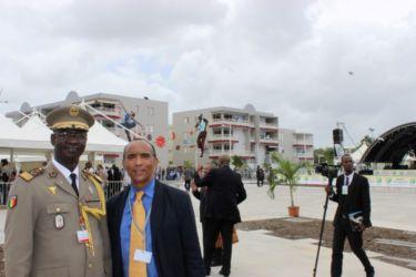 Avec l'aide de camp de Ibrahim Boubacar Traoré