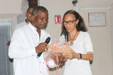 Avec le conseiller culturel du Conseil Général de la Guadeloupe
