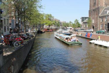 Bateau mouche à Amsterdam