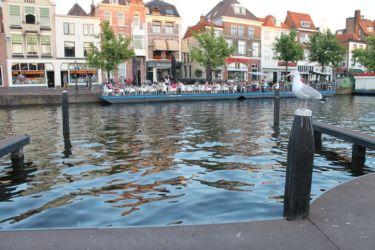Bord de canal à Leiden