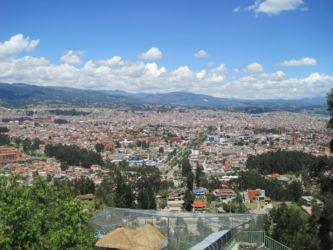 Cuenca vue des hauteurs