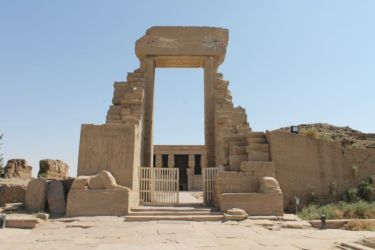Dendera, entrée du temple