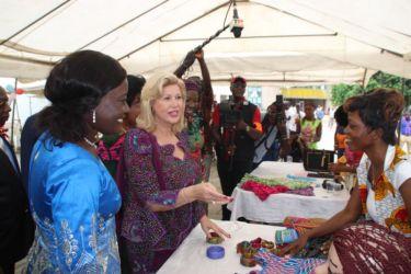 Dominique Ouattara et Mariatou Koné