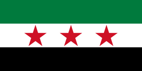 Drapeau de la Syrie en 1932-1958 et 1961-1963