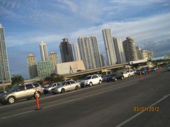 Embouteillage à l'entrée de Panama City
