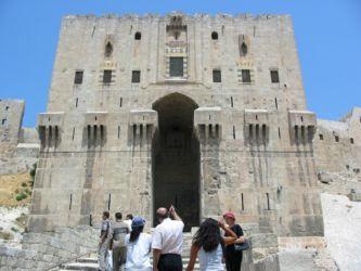 Entrée de la Citadelle d'Alep
