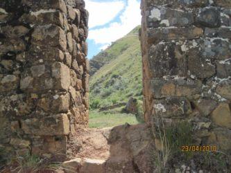 Epaisseur des murs d'Inkallajta