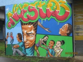 Fresque à Puerto Limon