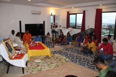 Cérémonie de puja à Abidjan