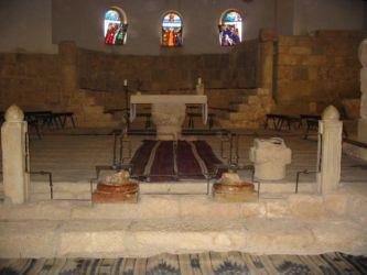 Intérieur de l'église du Mt Nébo