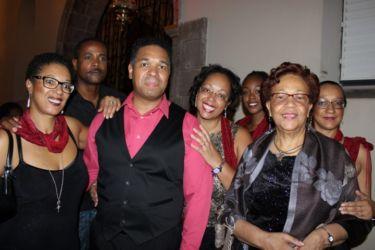Jean-Loup Pagesy avec sa mère et ses soeurs