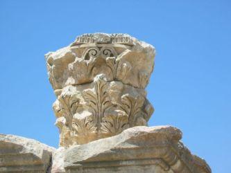 Jerash, colonne corinthienne (feuille d'acanthe)