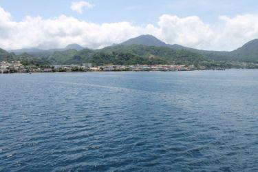 L'île de la Dominique, au large de Roseau