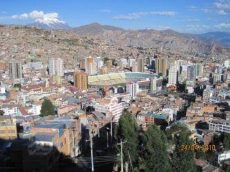 La Paz et le glacier Illimani