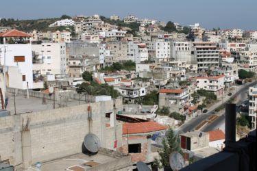 La ville de Safita vue d'une terrasse