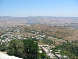 Le village Amar el Hosn, vu du haut du Krak