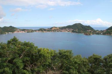 Les Saintes, vues depuis l'Îlet à Cabris