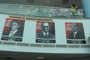 Les présidents Robinson, Hassalani, Clarke