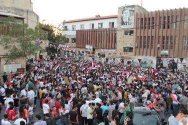 Manifestation de soutien à Bachar el Assad (Safita)