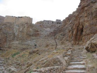 Montée vers le monastère de Mar Moussa