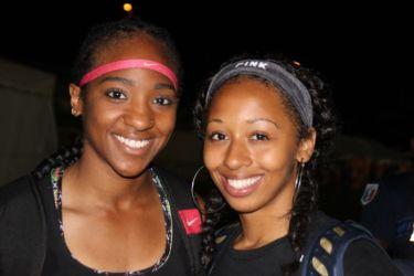 Nia ALI (Usa) 100m haies 4è avec 13''35 et Kenyattia HACKWORTH (Usa) 1ère saut en longueur