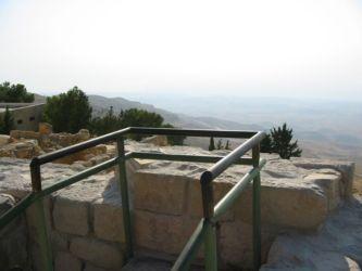 Point d'où Jean Paul II a admiré le Mont Nebo