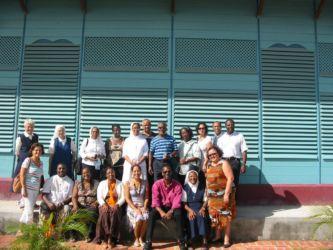 Responsables de l'enseignement St Joseph de Cluny, en réunion à Mana