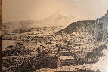 Saint Pierre, peu après l'éruption