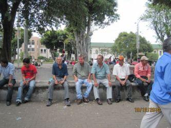 San José, parc avec ressortissants du Nicaragua