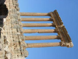 Six colonnes du péristyle méridional du temple de Jupiter