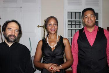 Tomas Szczepanski (pianiste), Aurore Ugolin (mezzo soprano) et Jean-Loup Pagesy (basse)