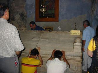 Tombeau d'un saint dans l'église de la Ceinture de la Vierge (Homs)